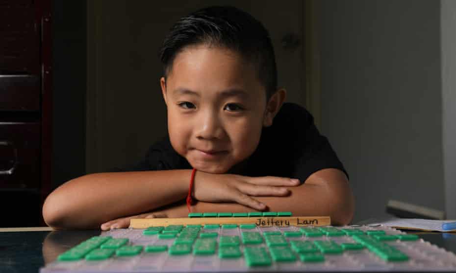 Eight-year-old Jeffery Lam