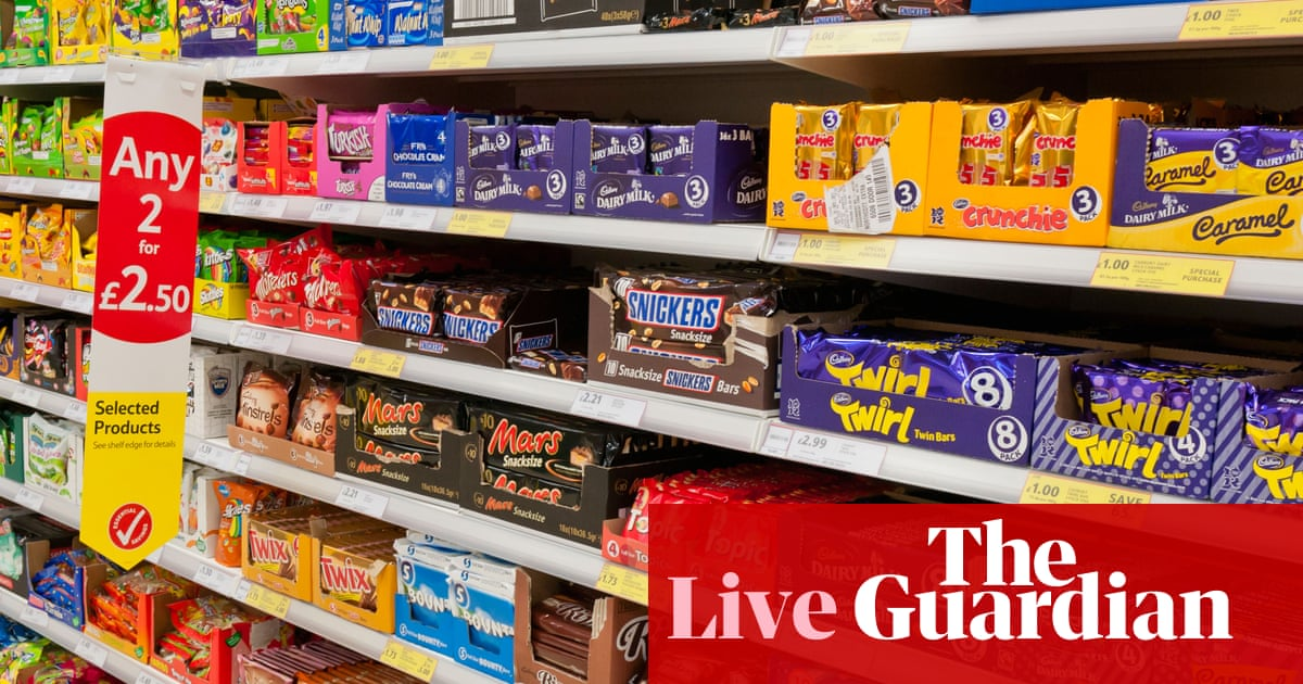 UK politics live: minister suggests government will reject plan for £3bn sugar and salt tax