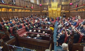 Peers in the House of Lords on 18 April, as the government suffered its first defeat in the upper house over the European Union (withdrawal) bill, when peers voted in favour of a customs union amendment