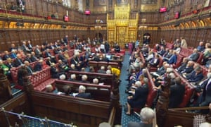 The House of Lords, where Theresa May this afternoon suffered her 12 defeat on the EU withdrawal bill this afternoon.