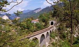 The narrow gauge railway between Nice and Tende.
