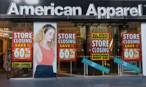 street view of American Apparel closing shop in the UK