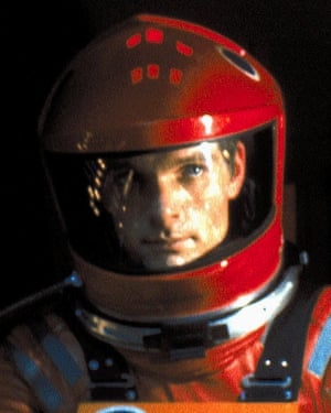 Keir Dullea as Dave Bowman in the film.