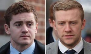 Ireland and Ulster rugby players Paddy Jackson (left) and Stuart Olding, who were acquitted of rape following a trial last month, are to leave the club.