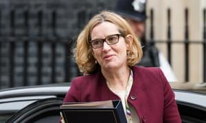 Amber Rudd in Downing Street