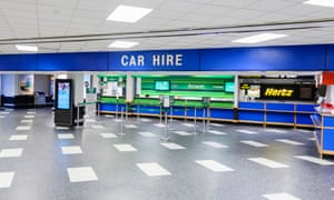 Car Hire centre at an airport