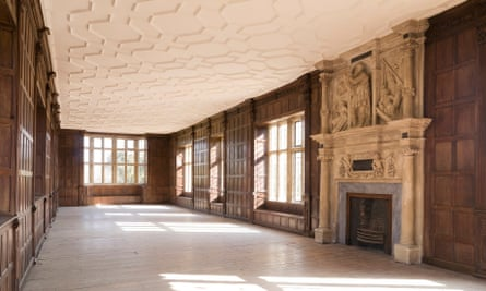 The Jacobean long gallery at Apethorpe Palace.