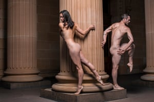 Nude dancers at AGNSW