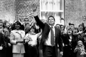 Tony Blair arrives in Downing Street in May 1997