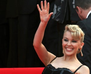 Kylie Minogue: practising the royal wave?