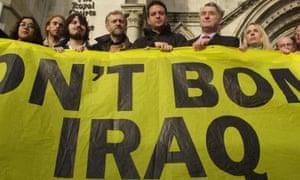 Jeremy Corbyn at anti-war demonstration in 2002.