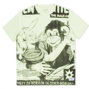 T-shirt with comic strip print