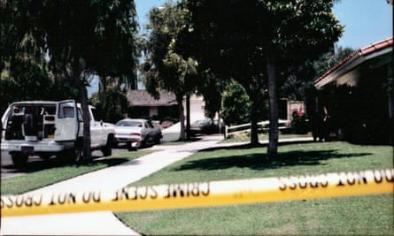 Crime-scene tape cordons off the Santa Barbara cul-de-sac where Cheri Domingo and Gregory Sanchez were murdered. Thirty years later, DNA connected the double homicide to the Golden State Killer.