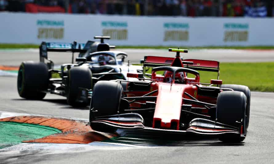 Charles Leclerc holds off Lewis Hamilton