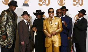 Jam and Lewis reunite with Morris Day and the Time at the 2008 Grammys.