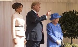 Melania Trump, Donald Trump and the Queen