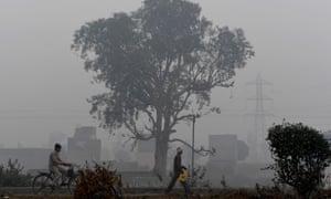 Smog in Faridabad