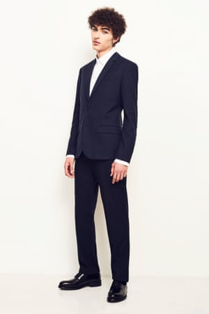 Business MattersKeep it traditional with tailoring. Jacket, £225, and trousers, £110, both whistles.com. Shoes, £59.99, zara.com. Shirt as before