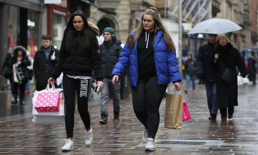 two women shopping wearing sports clothing