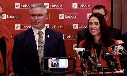 Jacinda Ardern and Kelvin Davis address the media after taking over the leadership of the New Zealand Labour party