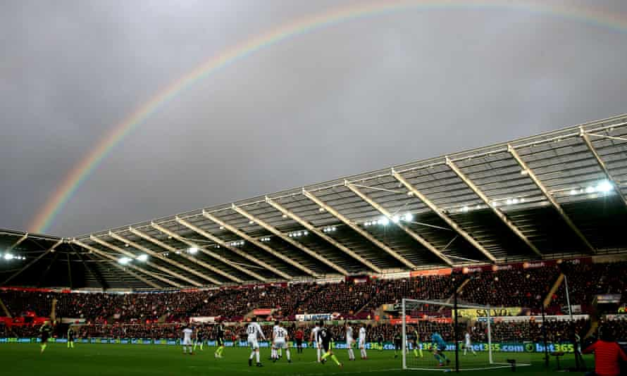 A rainbow over the Liberty Stadium was about the only enjoyable sight for Swansea fans on Saturday.
