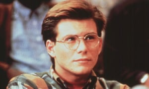 Christian Slater wearing glasses