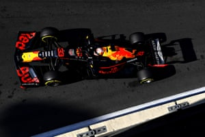 Verstappen, in fourth place.