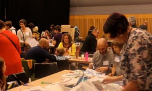 Activities in progress with Mary Pullen Deacon and Alexandra Leadbeater at the Guardian Cartoon and art family day 2015.