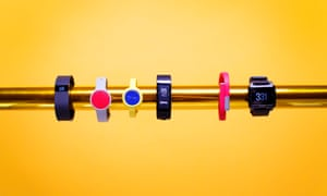 Fitness trackers including the Fitbit Charge, Misfit Flash, Jawbone, Up Move, Sony Smartband, Jawbone up24 and Basis Peak