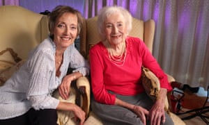 Dame Vera Lynn with her daughter Virginia Lewis-Jones photographed in Ditchling, East Sussex on 2 February 2017