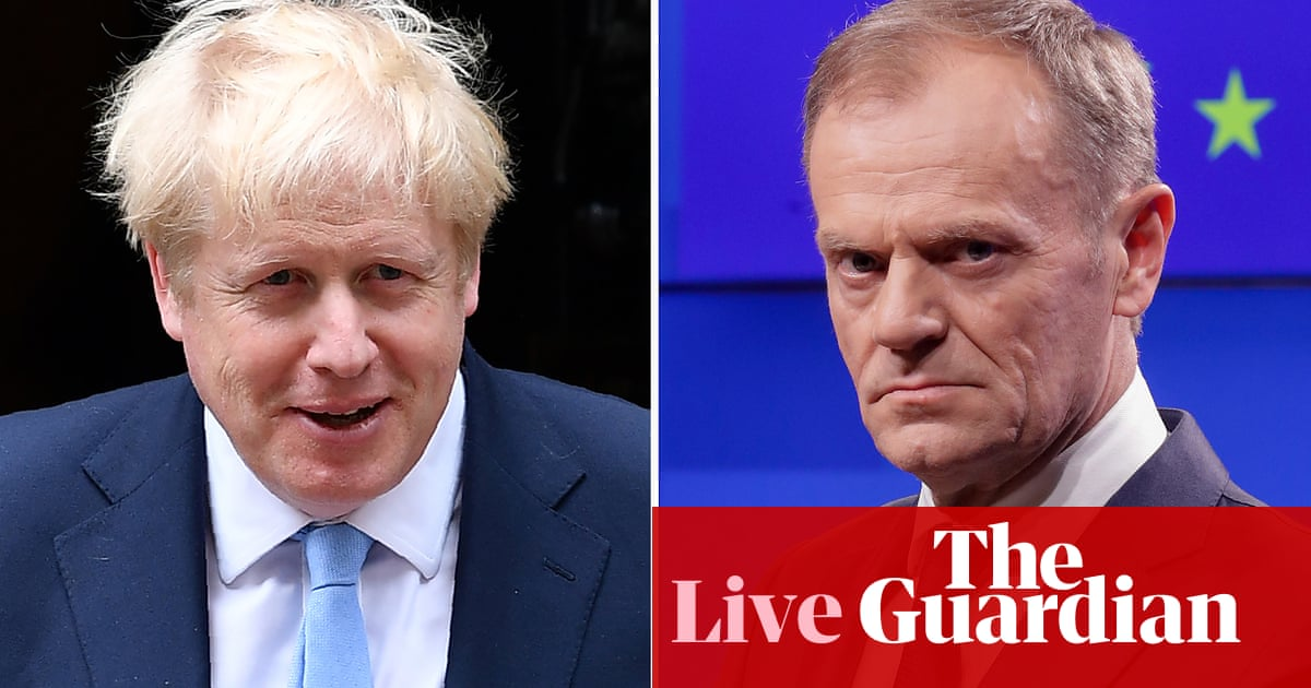 Brexit: No 10 tells Tusk there's 'no prospect of deal' unless withdrawal agreement reopened – live news