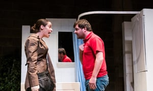 Caoilfhionn Dunne (Martha) and Laurence Kinlan (Kurt) in The Nest by Franz Xaver Kroetz at the Young Vic, London
