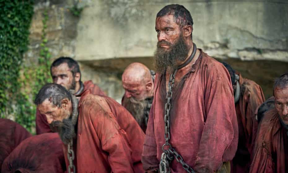 Dominic West as Valjean in Les Misérables.