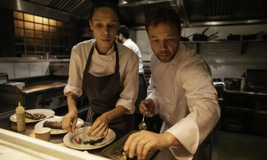 Vinette Robinson and Stephen Graham in Boiling Point.