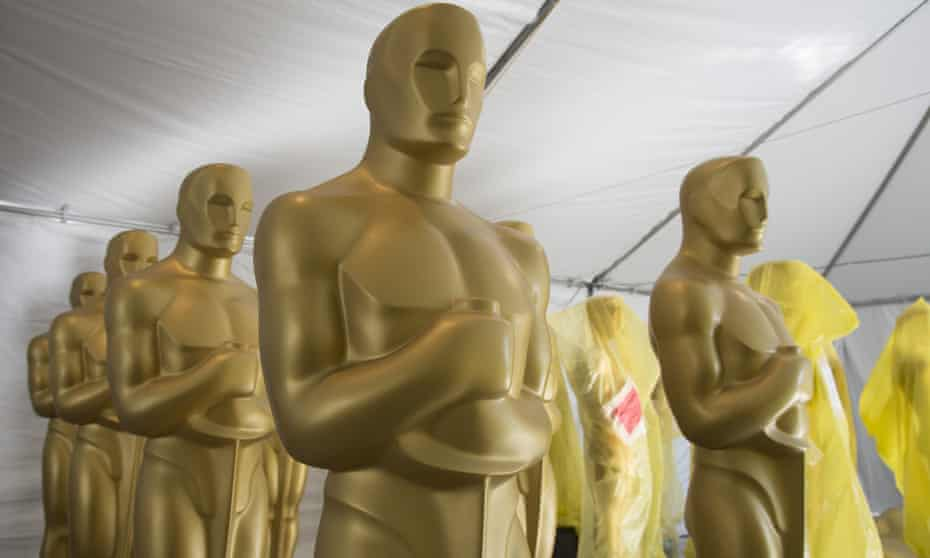 Oscar statues are painted as preparations are underway for the 88th Academy Awards in Los Angeles. Australians are predicted to win a record number of Oscars this year.
