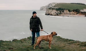 Daniel Payne, one of the five men who were convicted, on the coastal path overlooking Freshwater Bay.
