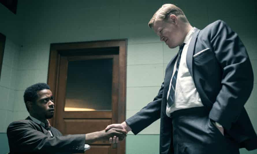 Lakeith Stanfield, left, and Jesse Plemons as William O'Neal and FBI agent Roy Mitchell.