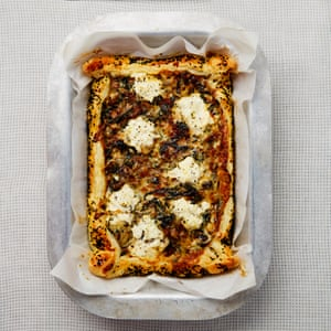 Yotam Ottolenghi's swiss chard and ricotta pie.