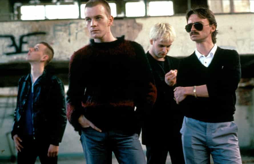 Ewen Bremner, Ewan McGregor, Jonny Lee Miller and Robert Carlyle in Trainspotting.