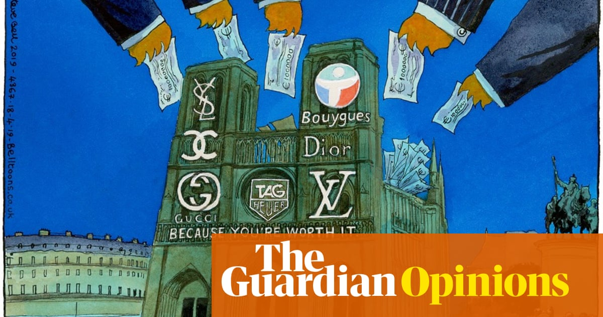 Steve Bell on donations for restoring Notre Dame Cathedral
