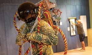 Yinka Shonibare's Refugee Astronaut, the centrepiece of the Wellcome Foundation's forthcoming Being Human exhibition.
