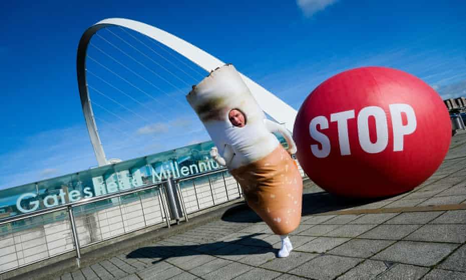The Stoptober campaign hits Gateshead in September 2019.