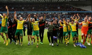 Norwich City took the Championship title thanks to a 2-1 victory at Aston Villa.
