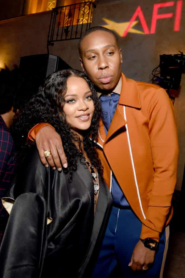 Rihanna and Lena Waithe attend an after-party for the premiere of Queen & Slim last month.