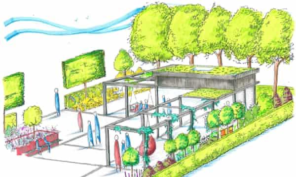 Shea O'Neill's show garden design for the RHS Tatton Park show 2016