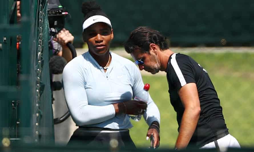 Serena Williams can switch between handling the responsibilities of greatness and being consumed by them.