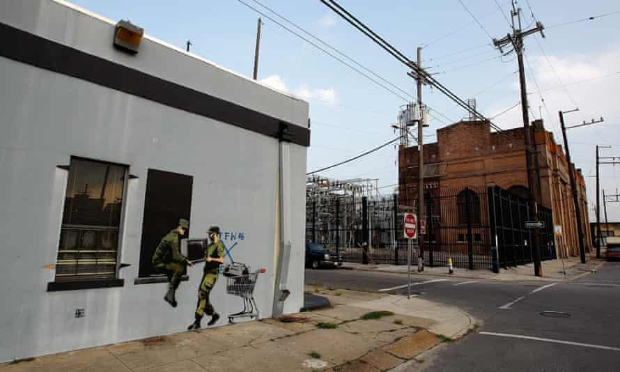 Banksy Graffiti Murals Pop Up Around New Orleans