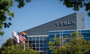 Tesla's building in Fremont, California