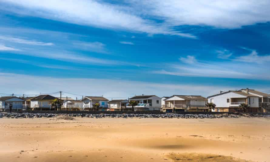 Stilted beach houses in Gruissan-Plage