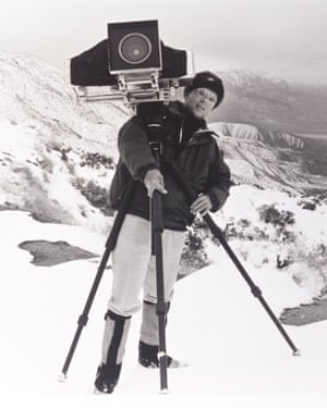 Alistair Thain with a large format camera